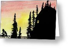 Among The Pines Greeting Card