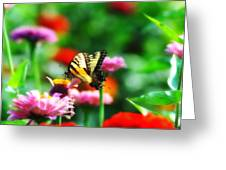 Amongst The Flowers Greeting Card
