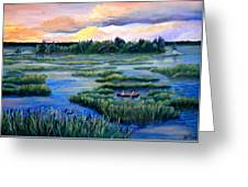 Amongst The Reeds Greeting Card