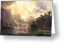 Among_the_sierra_nevada_mountains Greeting Card