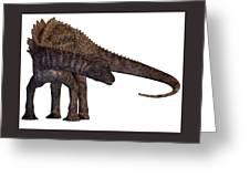 Ampelosaurus Armored Dinosaur Greeting Card