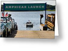 Amphicar Launch Greeting Card