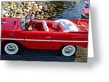 Amphicar Red  Greeting Card