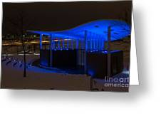Amphitheater In Blue Greeting Card