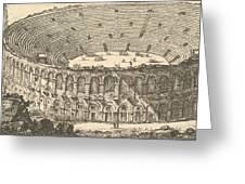 Amphitheater Of Verona Greeting Card