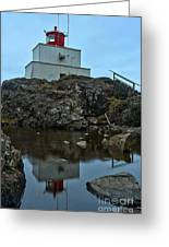 Amphitrite Point Lighthouse Reflections Greeting Card