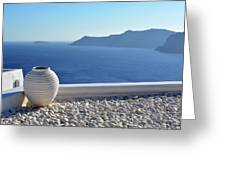 Amphora In Santorini, Greece Greeting Card