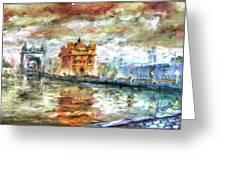 Amritsar Palace Greeting Card