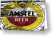 Amstel Beer Sign  Greeting Card