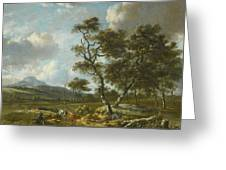 Amsterdam A Landscape With Cattle  Greeting Card
