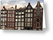 Amsterdam Architectre At Twilight Greeting Card