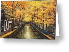 Amsterdam Autumn Greeting Card by Johnathan Harris
