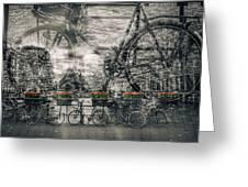 Amsterdam Bicycle Nostalgia Greeting Card