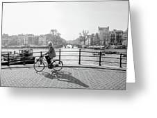 Amsterdam Bike Ride Greeting Card