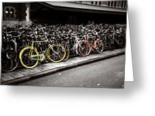 Amsterdam Bikes Greeting Card