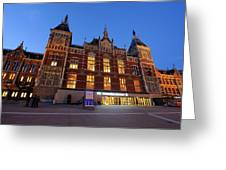 Amsterdam Central Station Greeting Card