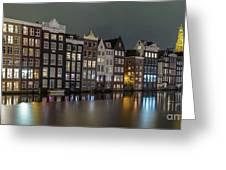 Amsterdam City Lights Greeting Card