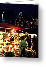 Amsterdam Flower Market Greeting Card