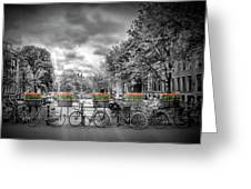 Amsterdam Gentlemens Canal Typical Cityscape Greeting Card