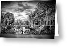 Amsterdam In Monochrome  Greeting Card