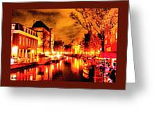 Amsterdam Night Life L A S Greeting Card