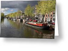 Amsterdam Prinsengracht Canal Greeting Card