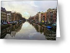 Amsterdam Reflected Greeting Card