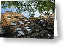 Amsterdam Spring - Fancy Brickwork Glow - Left Horizontal Greeting Card