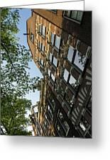 Amsterdam Spring - Fancy Brickwork Glow - Left Vertical Greeting Card