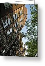 Amsterdam Spring - Fancy Brickwork Glow - Right Vertical Greeting Card
