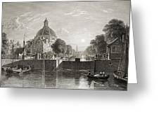 Amsterdam, View On The Singel. From The Greeting Card