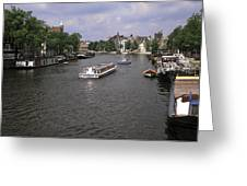 Amsterdam Water Scene Greeting Card
