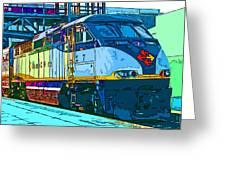 Amtrak Locomotive Study 2 Greeting Card by Samuel Sheats