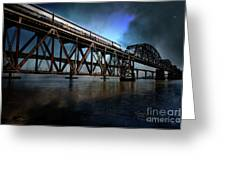 Amtrak Midnight Express 5d18829 Greeting Card by Wingsdomain Art and Photography