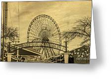 Amusement Park Vintage Greeting Card