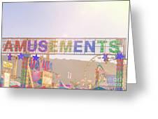 Amusements Greeting Card
