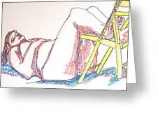 Bonnie And Chair Greeting Card
