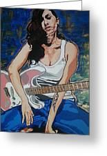 Amy Winehouse Greeting Card
