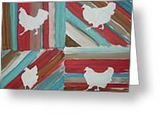 Amy's Chickens Greeting Card
