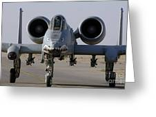 An A-10 Thunderbolt II Greeting Card