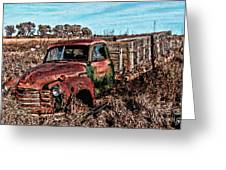 An Abandoned Truck Greeting Card