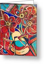 An Abstract Floral Greeting Card