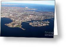 An Aerial View Of Naval Station Newport Greeting Card