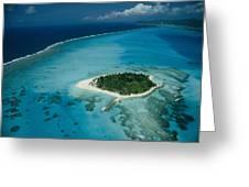 An Aerial View Of Saipan Island Greeting Card