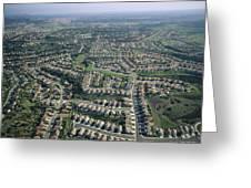 An Aerial View Of Urban Sprawl Greeting Card