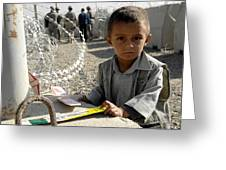an Afghan child Greeting Card