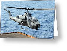 An Ah-1w Super Cobra Helicopter Greeting Card