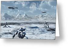An Alien Base Located In The Antarctic Greeting Card