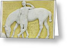 An Amazon Watering Her Horse, Rome Greeting Card