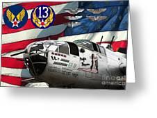 An American B-25c Pof Greeting Card